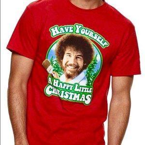 "c65079f62 Official Bob Ross ""Happy Little Christmas"" Shirt"